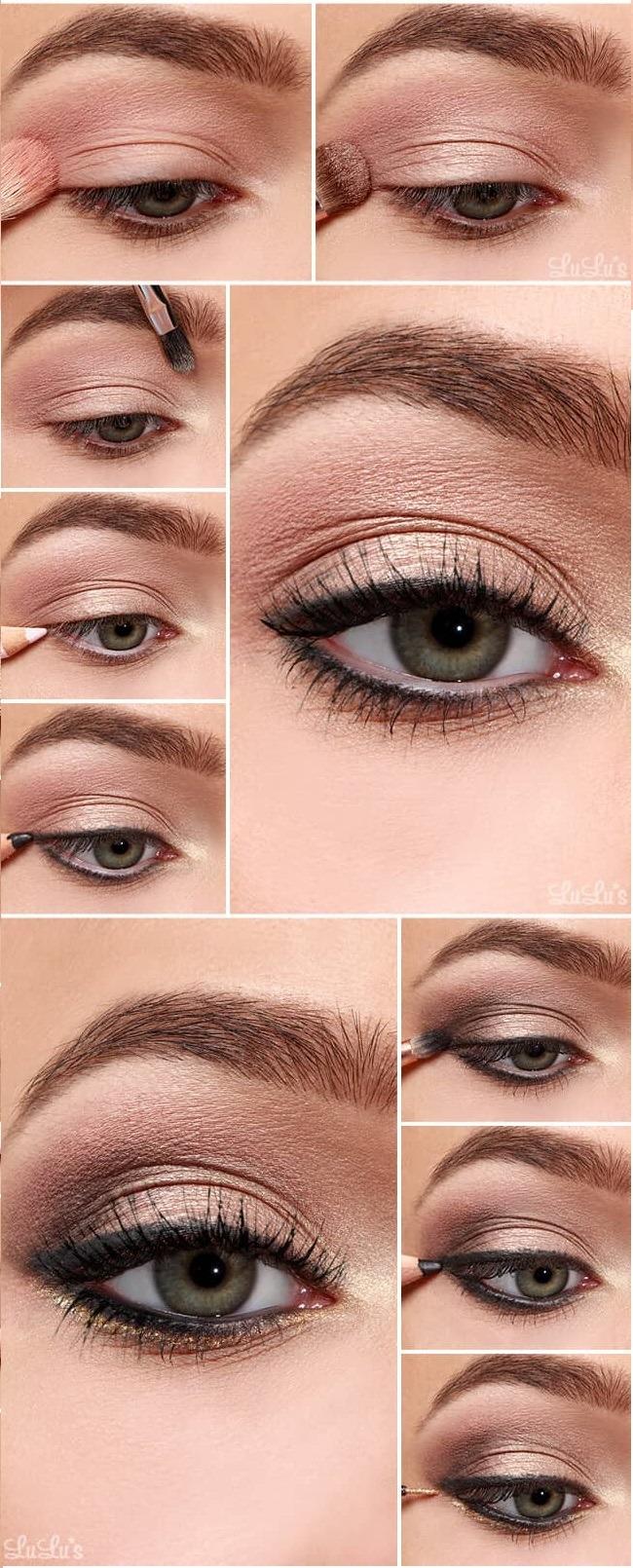 как сделать Повседневный вечерний макияж глаз пошагово