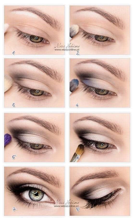 как сделать Сочетание смоки айс и омбре в макияже глаз пошагово