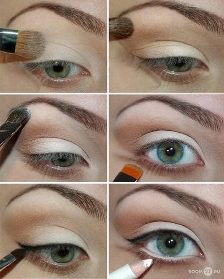 как сделать Свежий и естественный макияж глаз пошагово