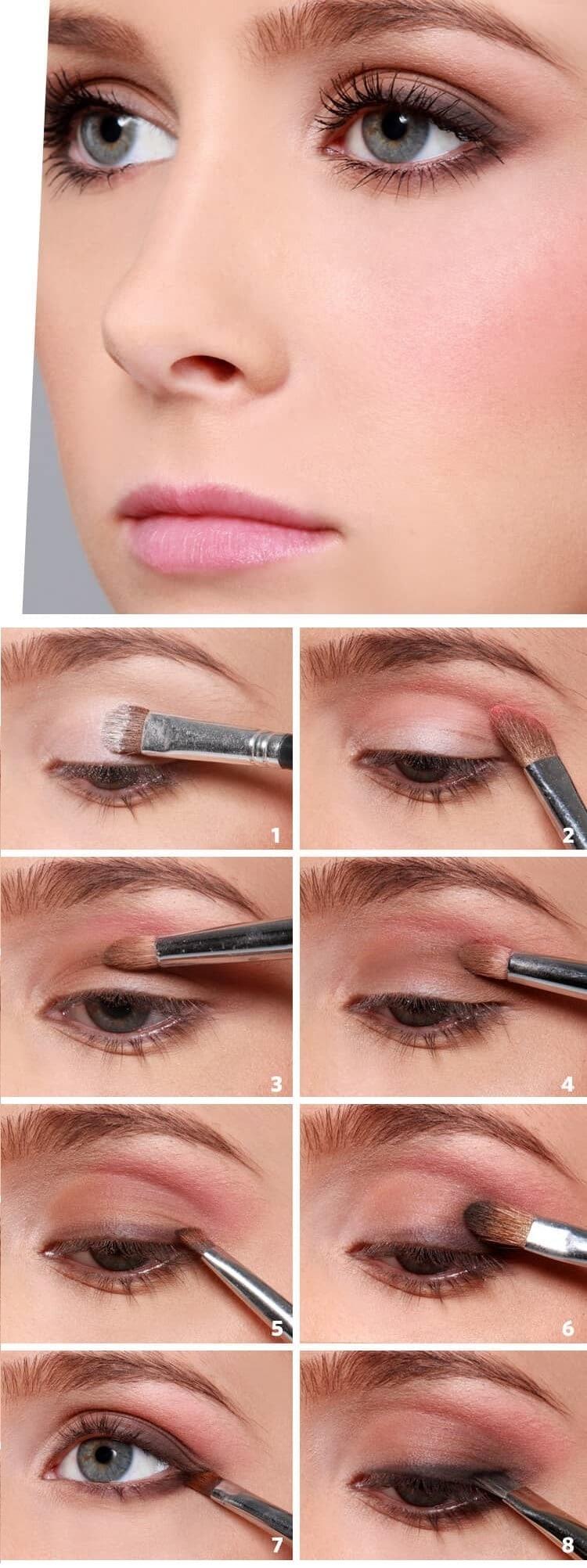 как сделать Естественный макияж глаз пошагово