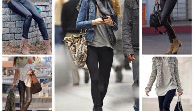 27 идей с чем носить леггинсы: Осень Зима 2019-2020