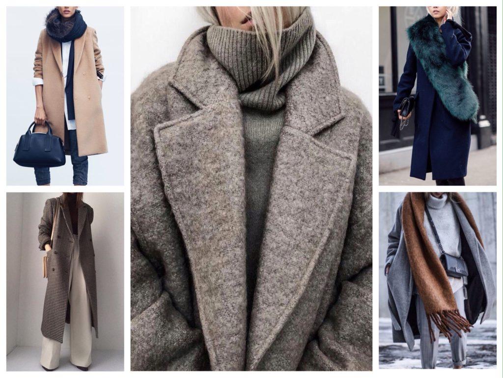 стильное модное зимнее пальто