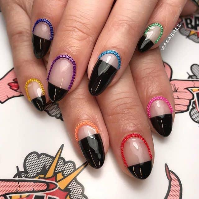 Красочный 3d маникюр на короткие ногти фото